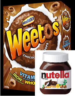 French Teenager's Breakfast - Weetos & Nutella